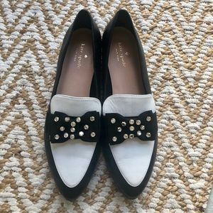 Kate Spade Black & White Cabbot Loafers